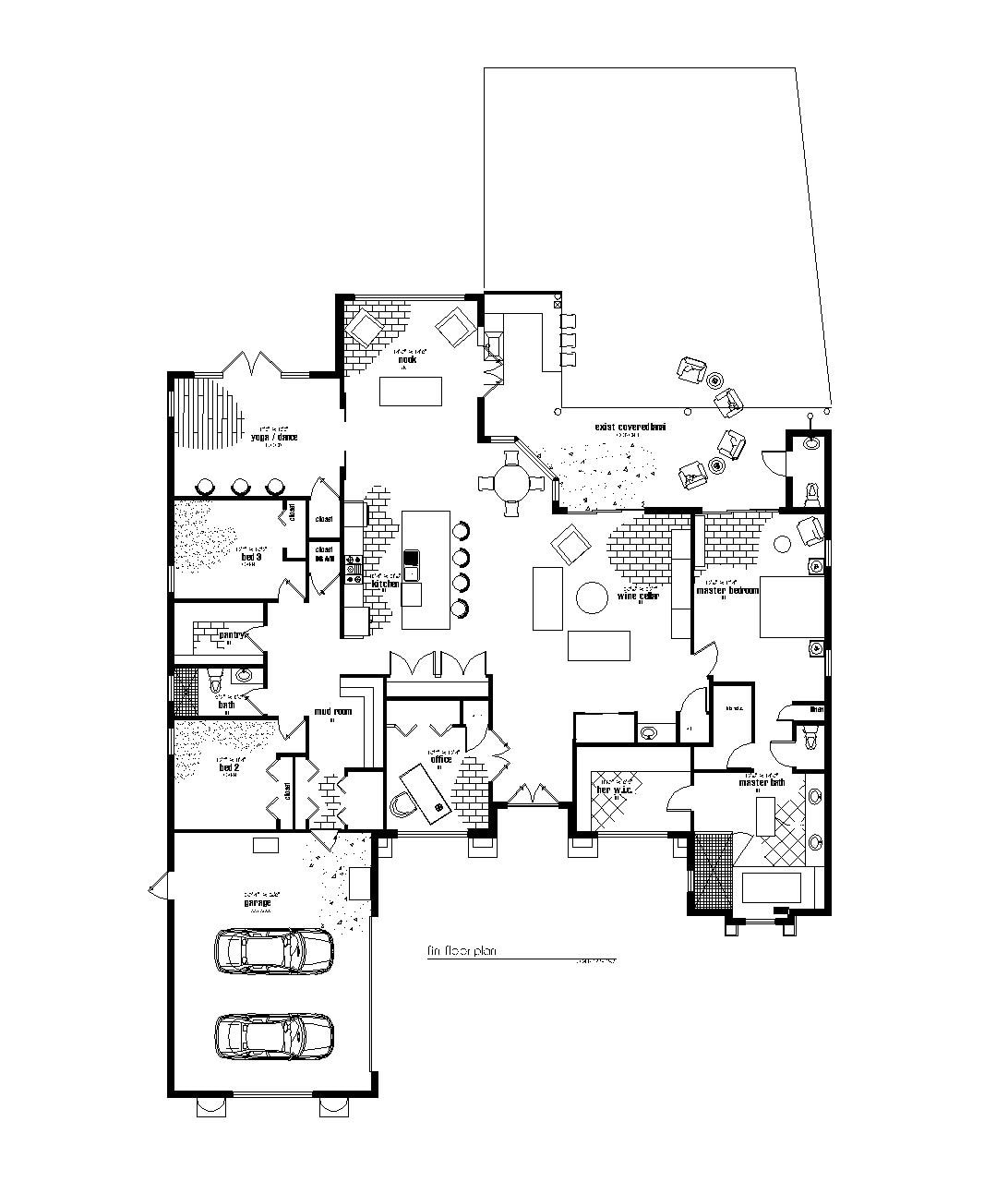 Stunning suburban house floor plan photos best for Custom home plans florida